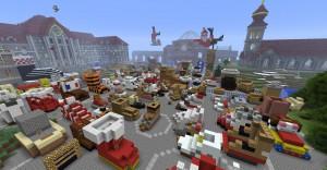 Der rathausmarkt zur Nikolausaktion